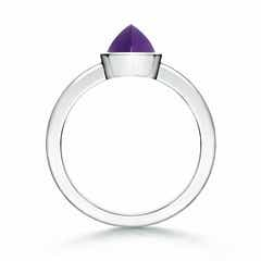 Toggle Bezel-Set Marquise Amethyst Solitaire Ring