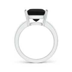 Toggle Prong-Set Rectangular Black Onyx Cocktail Ring