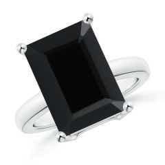 Prong-Set Rectangular Black Onyx Cocktail Ring