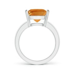 Toggle Prong-Set Rectangular Citrine Cocktail Ring