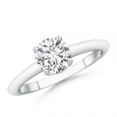 4 Prong Round Diamond Solitaire Engagement Ring
