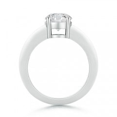 Toggle Round Diamond Solitaire Engagement Ring