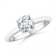 Round Moissanite Solitaire Engagement Ring