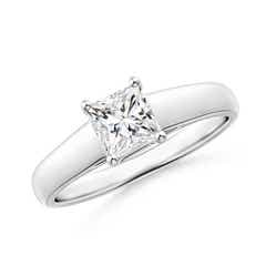 Princess-Cut Diamond Solitaire Engagement Ring