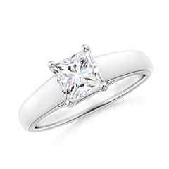 Square Moissanite Solitaire Engagement Ring