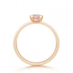 Toggle Semi Bezel-Set Morganite Solitaire Engagement Ring