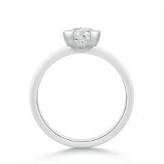 Toggle Semi Bezel-Set Moissanite Solitaire Engagement Ring