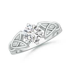Solitaire Round Diamond Celtic Knot Ring