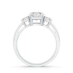 Toggle Round Diamond Three Stone Engagement Ring