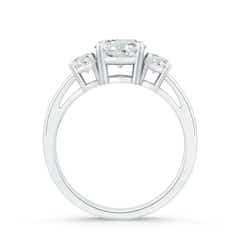 Toggle Round Moissanite Three Stone Engagement Ring