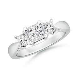 Three Stone Princess-Cut Diamond Ring