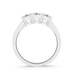 3 Stone Square Moissanite Engagement Ring