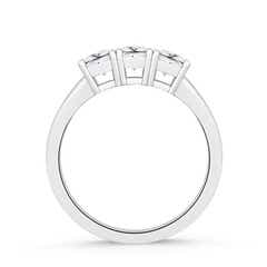 Toggle Classic Three Stone Moissanite Engagement Ring