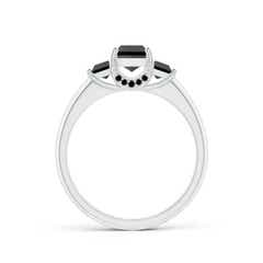 Toggle Classic Princess-Cut Enhanced Black Diamond Engagement Ring