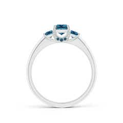Toggle Classic Princess-Cut Enhanced Blue Diamond Engagement Ring