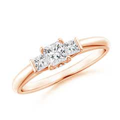 Classic Princess-Cut Diamond Engagement Ring