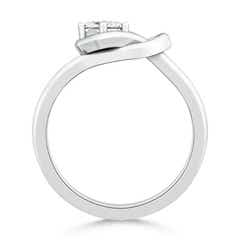 Toggle Square Solitaire Moissanite Infinity Knot Ring