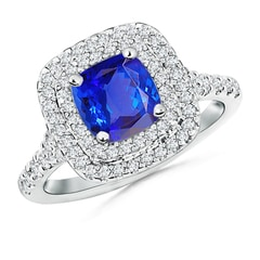 Angara Tanzanite and Diamond Trillium Petal Flower Ring