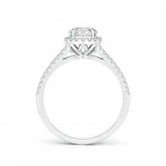 Toggle Split Shank Round Diamond Halo Engagement Ring