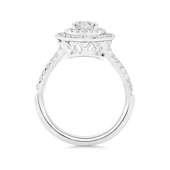 Toggle Double Halo Diamond Split Shank Ring