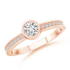 Bezel-Set Round Diamond Stackable Ring