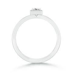 Toggle Princess-Cut Diamond Halo Stackable Ring
