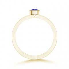 Toggle Bezel-Set Solitaire Round Tanzanite Stackable Ring