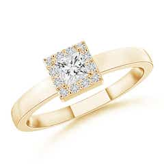Princess Diamond Halo Promise Ring
