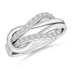 Encrusted Diamond Infinity Love Knot Ring