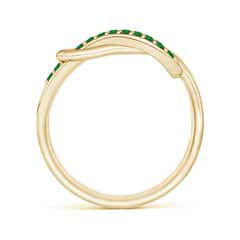 Toggle Encrusted Emerald Infinity Love Knot Ring