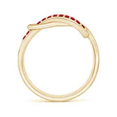 Toggle Encrusted Ruby Infinity Love Knot Ring