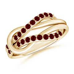 Encrusted Ruby Infinity Love Knot Ring