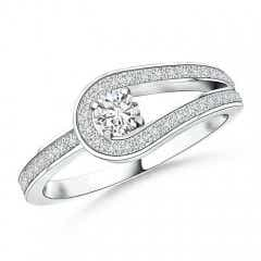 Solitaire Diamond Knot Promise Ring