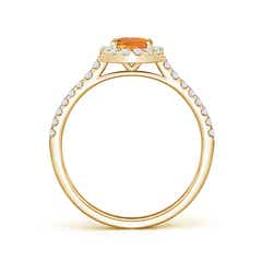 Toggle Oval Citrine Halo Ring with Diamond Accents