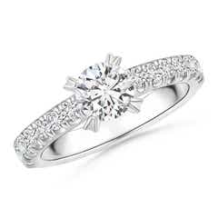 Prong-Set Round Diamond Solitaire Engagement Ring