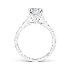 Toggle Prong-Set Solitaire Round Diamond Cathedral Ring