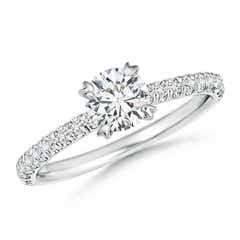 Vintage Inspired 4 Claw Diamond Solitaire Ring