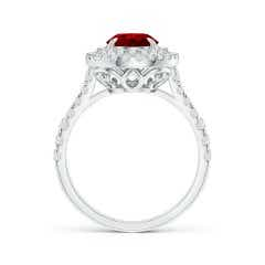 Toggle GIA Certified Oval Ruby Double Halo Ring