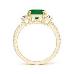 Toggle GIA Certified Octagonal Emerald Three Stone Ring