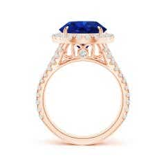 Toggle Round GIA Certified Sri Lankan Sapphire Split Shank Ring