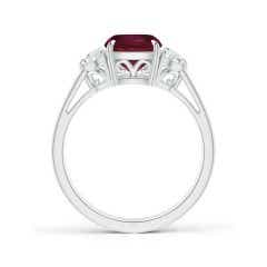 Toggle GIA Certified Cushion Ruby Three Stone Ring