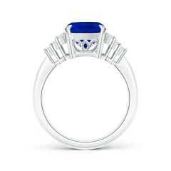 Toggle Classic GIA Certified Blue Sapphire Ring with Diamonds