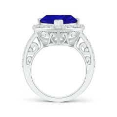 Toggle GIA Certified Trillion Tanzanite Halo Ring