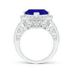 Toggle GIA Certified Trillion Tanzanite Halo Ring