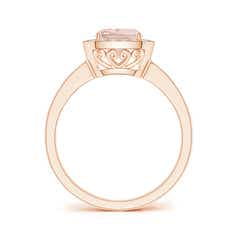Toggle Cushion Morganite Engagement Ring with Diamond Accents
