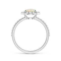 Toggle Vintage Style Claw-Set Round Opal Halo Ring