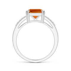 Toggle Solitaire Emerald-Cut Citrine Split Shank Ring