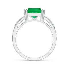 Toggle Solitaire GIA Certified Octagonal Emerald Split Shank Ring