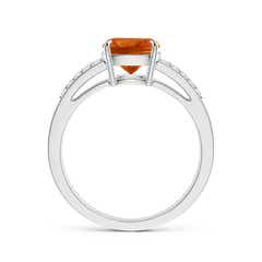 Toggle Cushion Citrine Split Shank Ring with Diamond Accents
