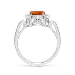 Toggle Cushion Citrine Halo Ring